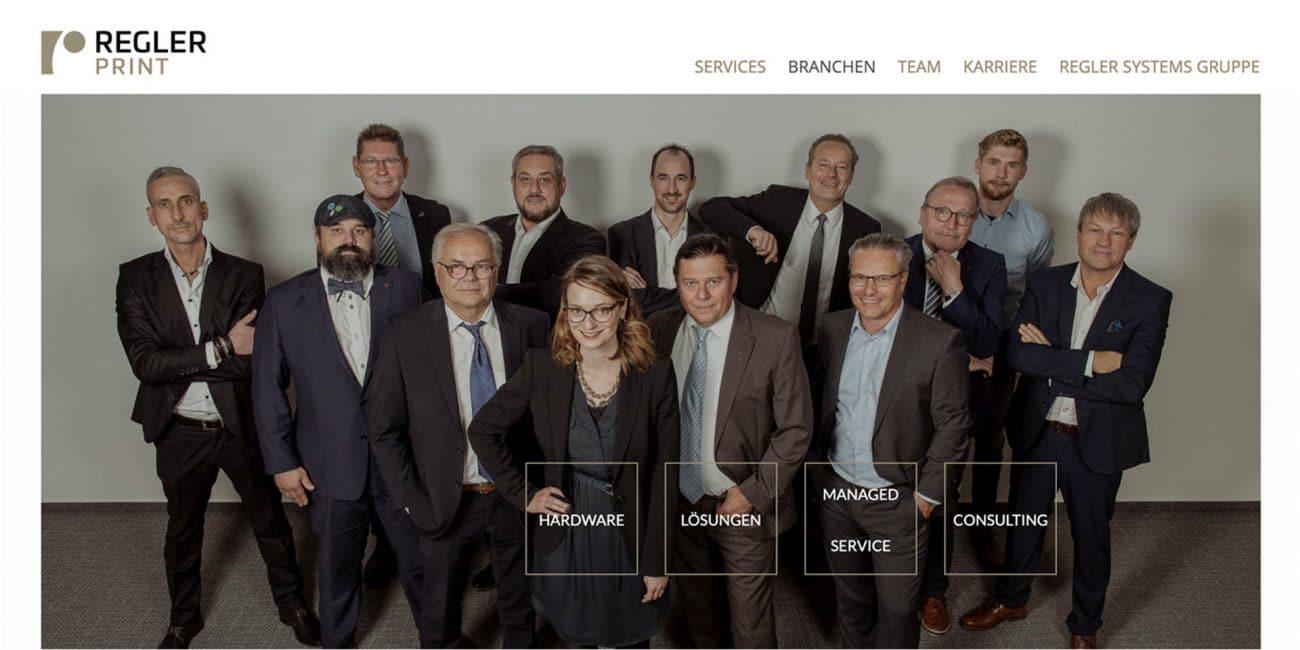 Regler Systems Webseite