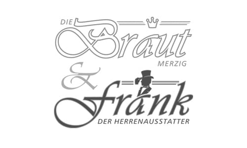 Die Braut Merzig und Frank der Herrenausstatter